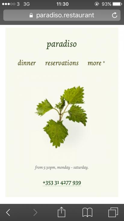 paradiso.restaurant designed at bite