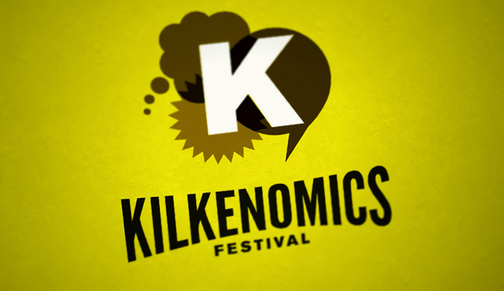 Logo design. Kilkenomics, a Festival of Economics and Comedy
