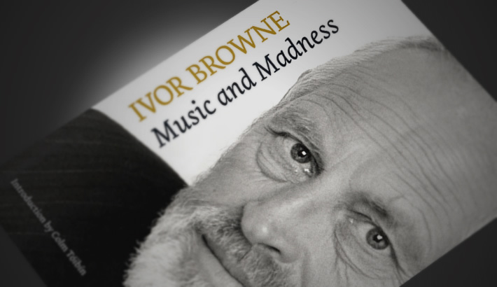 Jacket design. Music and Madness, Ivor Browne's Autobiography