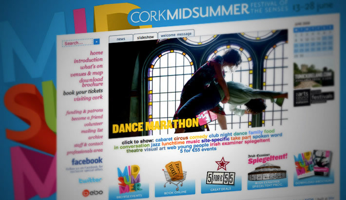 Website for Cork Midsummer Festival