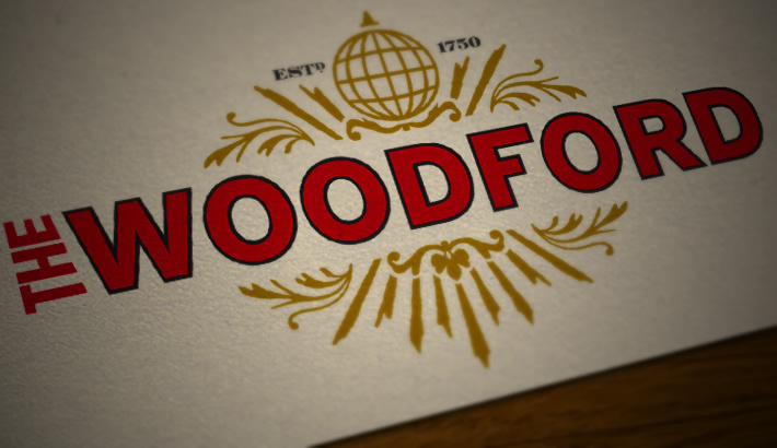 Logo design. Livery for The Woodford Bar & Restaurant